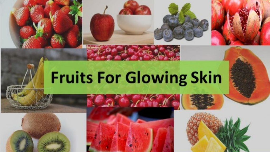 how beautiful our skin looks after eating fruits!